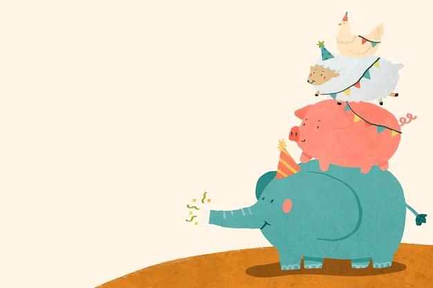 Celebración de animales doodle