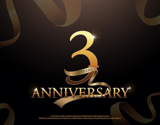 Celebración de aniversario de 3 años