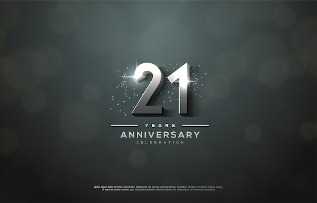 Celebración de aniversario con números de plata.