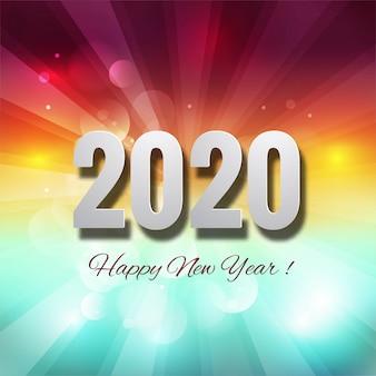 Celebración año nuevo 2020 colorido creativo