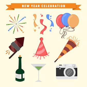 Celebración de año nuevo gráfico