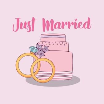 Celebración de boda con dulce pastel