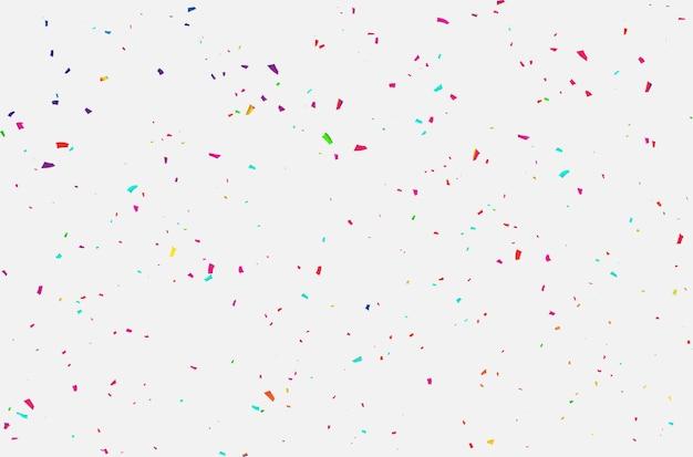 Celebración de confeti de cintas de carnaval.