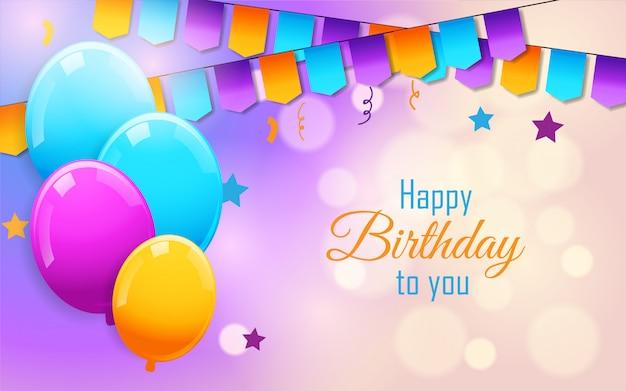 Celebración de cumpleaños con globos de colores