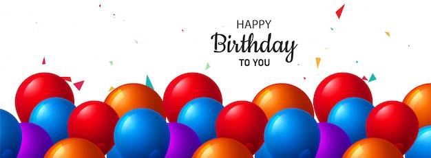 Celebración cumpleaños hermoso banner