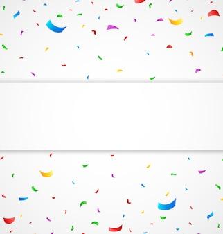 Celebración de cumpleaños con confeti de colores