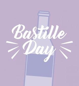 Celebración del día de la bastilla con vino