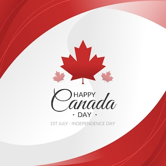 Celebración del día de canadá de diseño plano