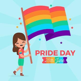 Celebración del día del orgullo del diseño de la bandera