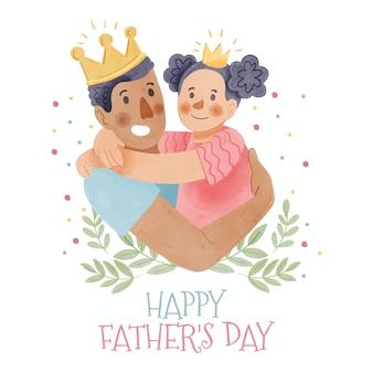 Celebración del día del padre estilo acuarela