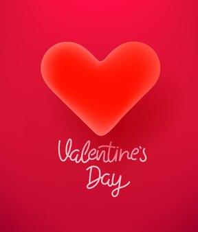 Celebración del día de san valentín con corazón hermoso
