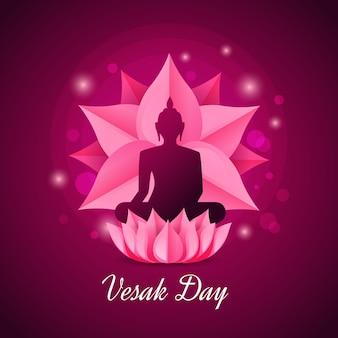Celebración del día vesak plana