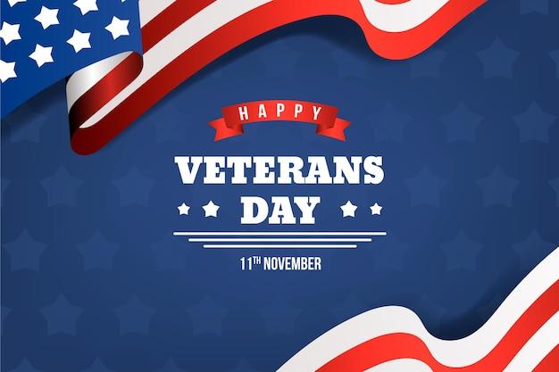 Celebración del día de los veteranos de estilo realista