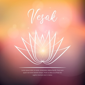 Celebración de diseño plano vesak
