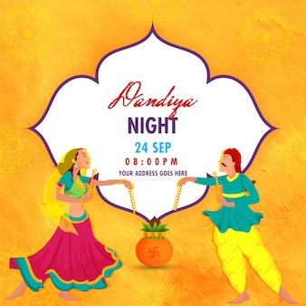 Celebración del evento dandiya night.