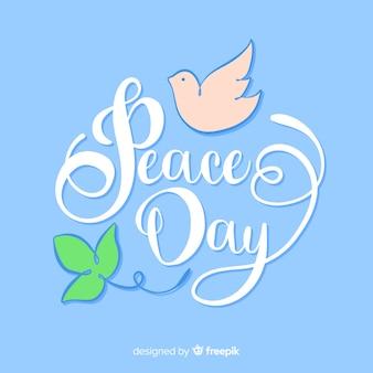 Celebración del evento del día de la paz.