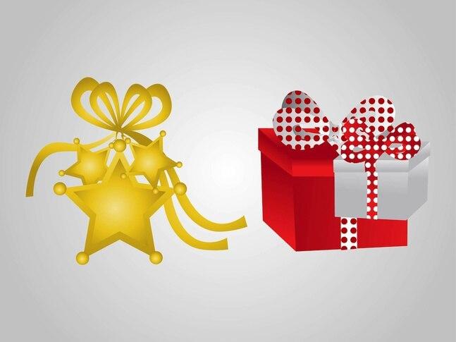 Celebración festiva de la navidad iconos vectoriales