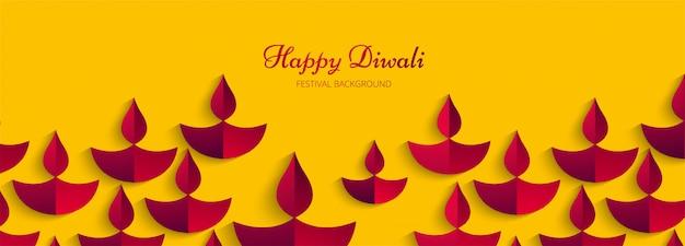 Celebración del festival de diwali decorativo banner colorido