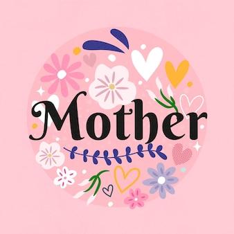 Celebración floral del día de la madre