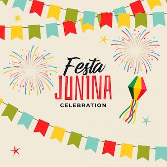 Celebración de fondo para festival de festa junina.