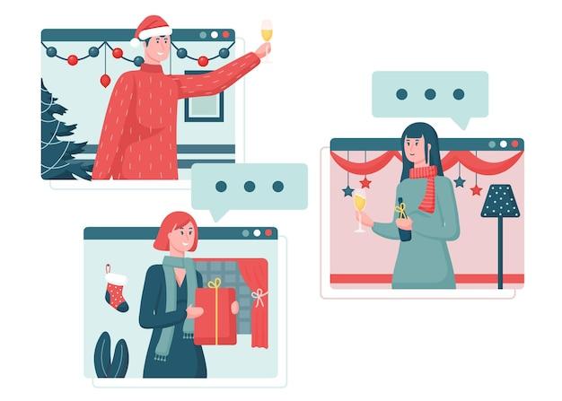 Celebración de navidad online