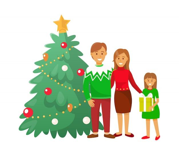 Celebración de navidad vacaciones de invierno gente inicio