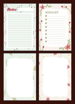 Celebración navideña diario bloc de notas letra linda estilo escandinavo