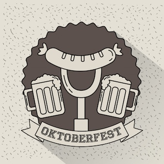 Celebración del oktoberfest alemania
