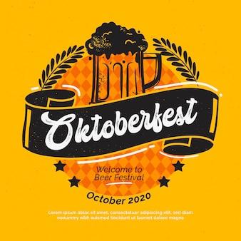 Celebración del oktoberfest de diseño plano
