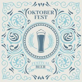 Celebración del oktoberfest de estilo vintage
