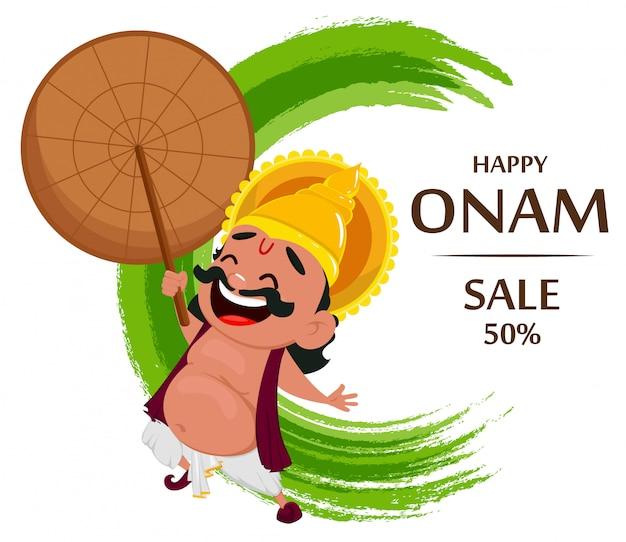 Celebración de onam. rey mahabali
