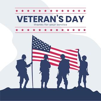 Celebración plana del día de los veteranos