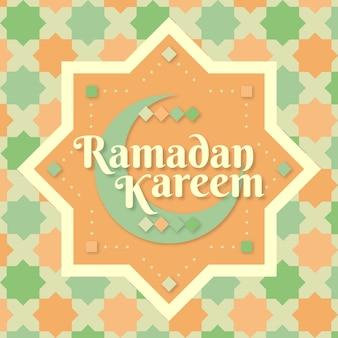 Celebración de ramadán de estilo plano