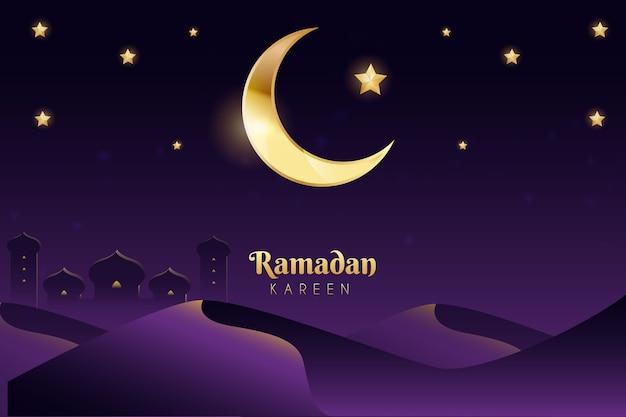 Celebración realista del ramadán