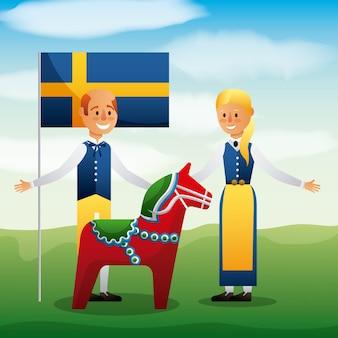 Celebración sueca de pleno verano