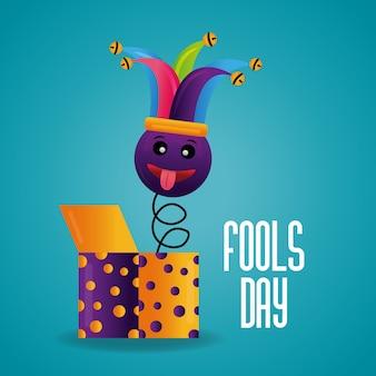 Celebración de la tarjeta del día de los tontos