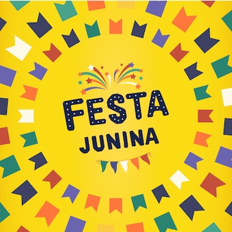 Celebración tradicional brasileña festa junina.