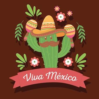 Celebración tradicional viva mexico