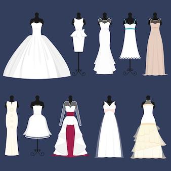 Celebración del vestido de novia de boda