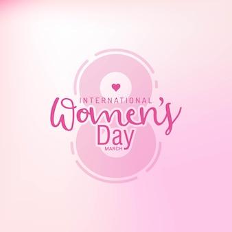 Celebraciones del día de la mujer feliz en marzo con texto elegante