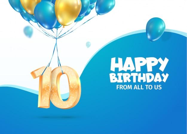 Celebrando aniversario. celebración del décimo aniversario.