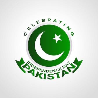 Celebrando día de la independencia de pakistán con tipografía.