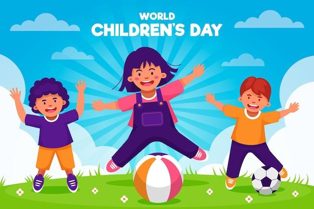 Celebrando el día mundial del niño