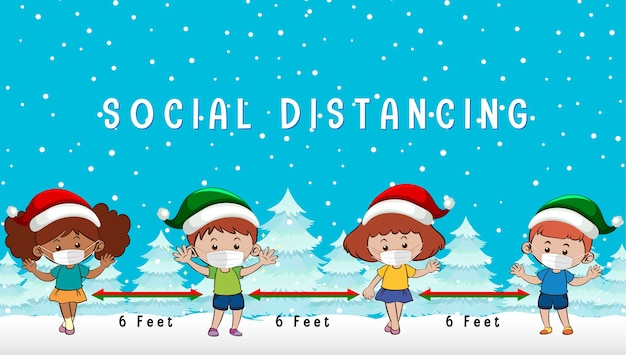 Celebrando la navidad con distanciamiento social
