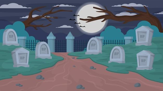 Cementerio espeluznante - escenas exteriores