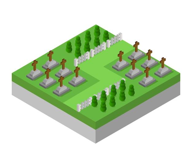 Cementerio isométrico
