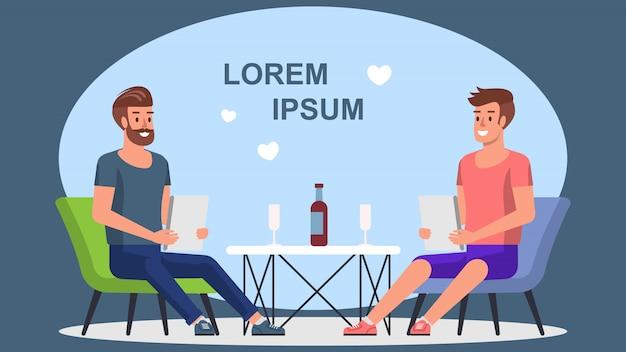 Cena romantica en cafe