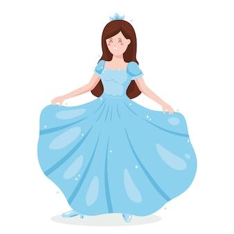 Cenicienta en vestido