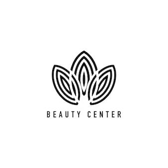 Centro de belleza marca logo ilustración