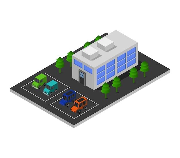 Centro comercial isométrico